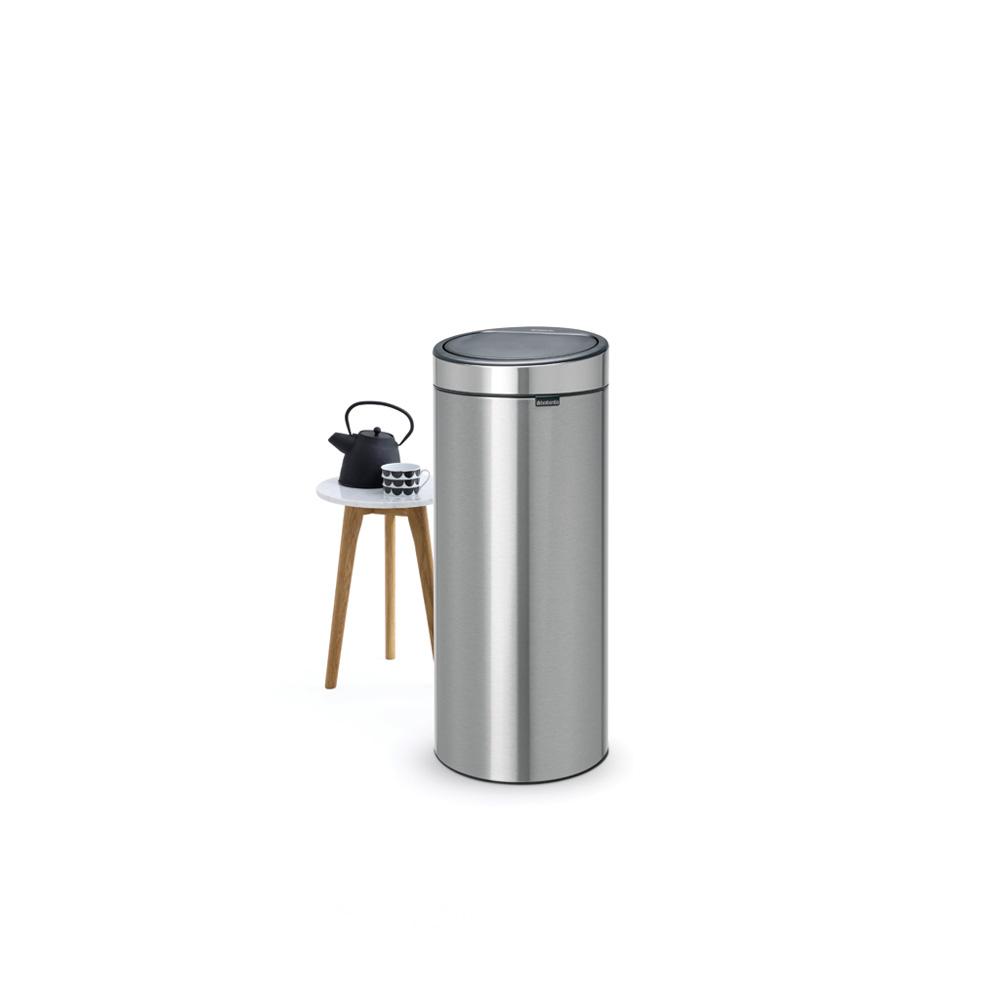 Кош за смет Brabantia Touch Bin New 30L, Matt Steel Fingerprint Proof(4)