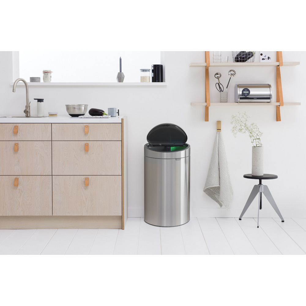 Кош за смет Brabantia Touch Bin New Recycle 23+10L, Matt Steel(8)