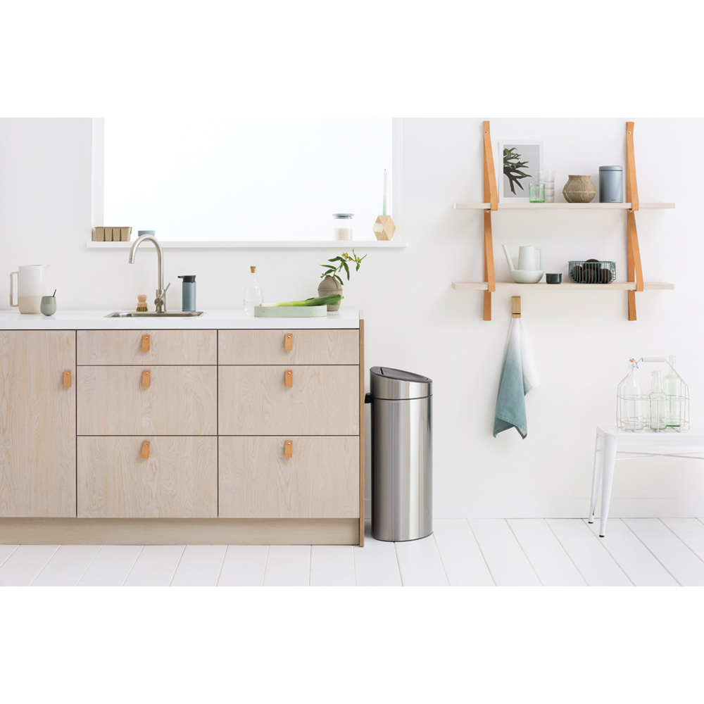 Кош за смет Brabantia Touch Bin New Recycle 23+10L, Matt Steel(9)