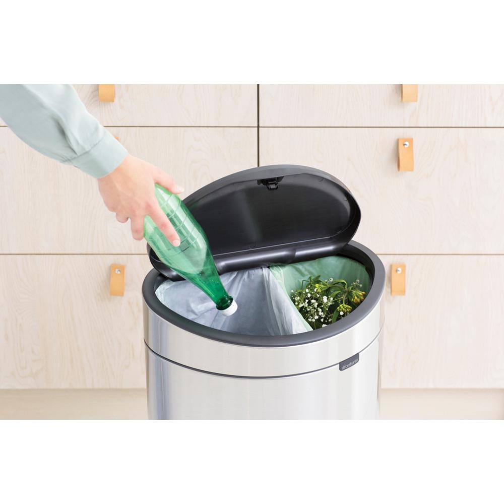 Кош за смет Brabantia Touch Bin New Recycle 23+10L, Matt Steel Fingerprint Proof(3)