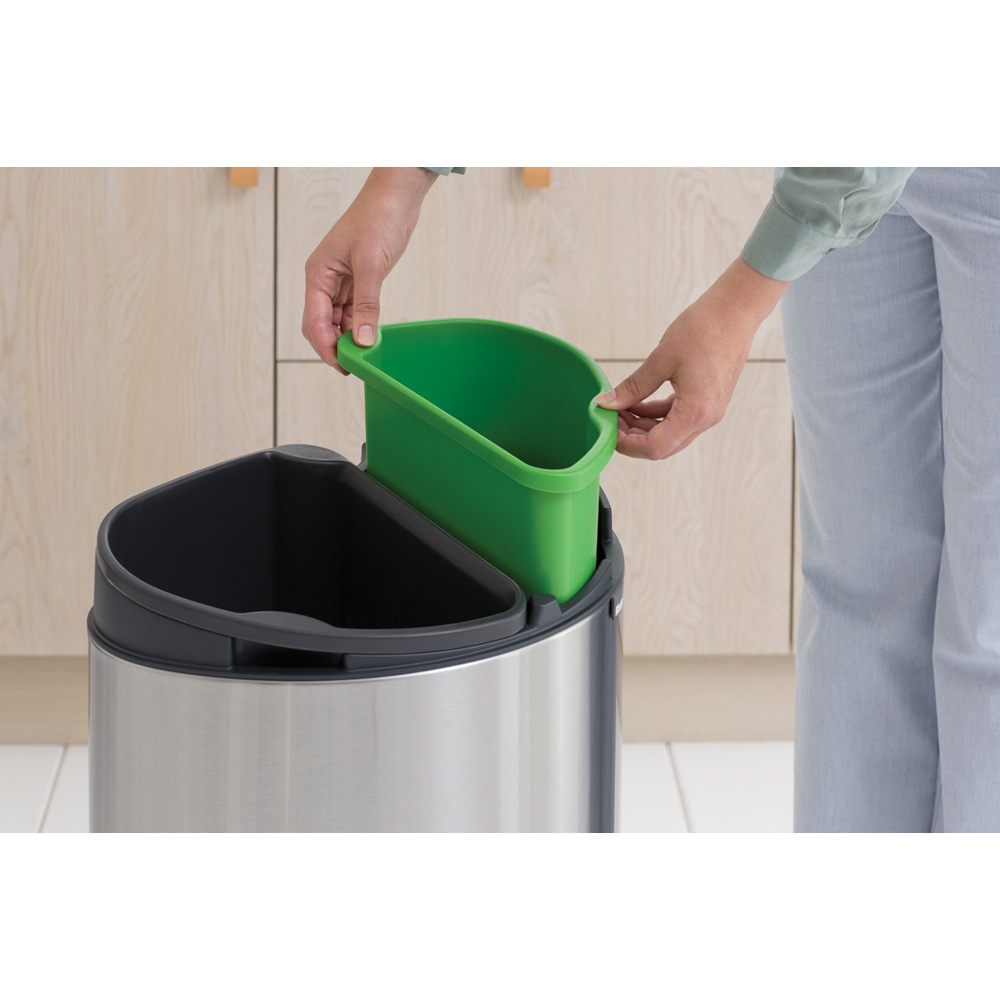 Кош за смет Brabantia Touch Bin New Recycle 23+10L, Matt Steel Fingerprint Proof(4)