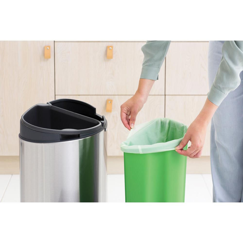 Кош за смет Brabantia Touch Bin New Recycle 23+10L, Matt Steel Fingerprint Proof(5)