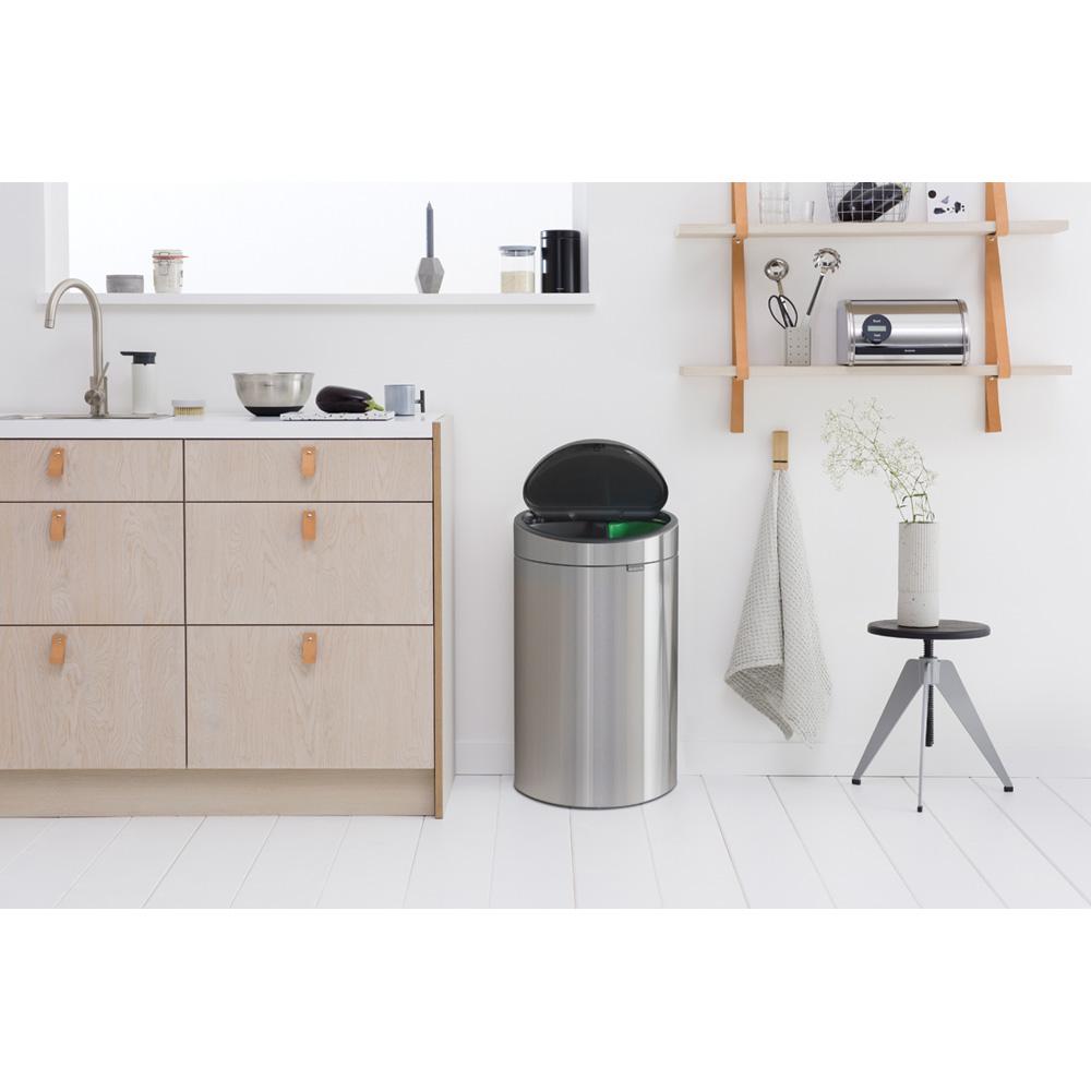 Кош за смет Brabantia Touch Bin New Recycle 23+10L, Matt Steel Fingerprint Proof(8)