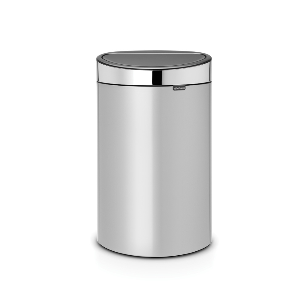 Кош за смет Brabantia Touch Bin New 40L, Metallic Grey, капак металик