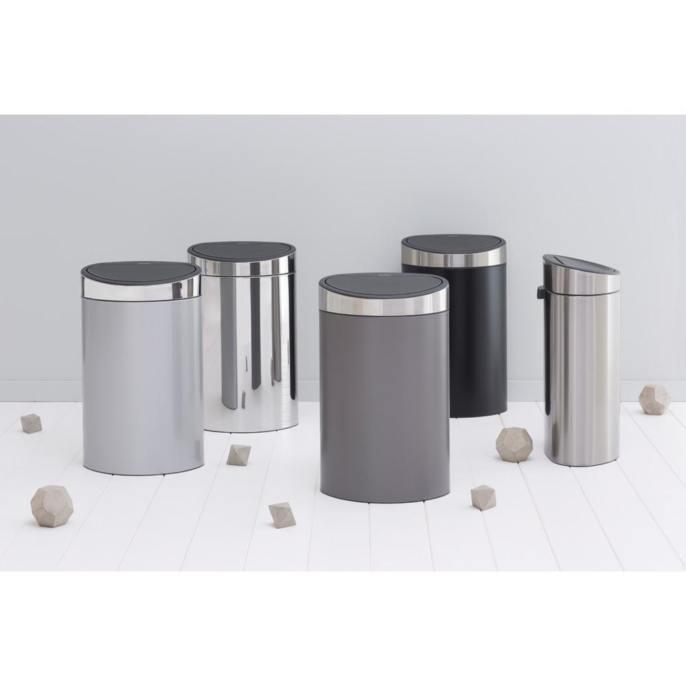Кош за смет Brabantia Touch Bin New 40L, Metallic Grey, капак металик(5)