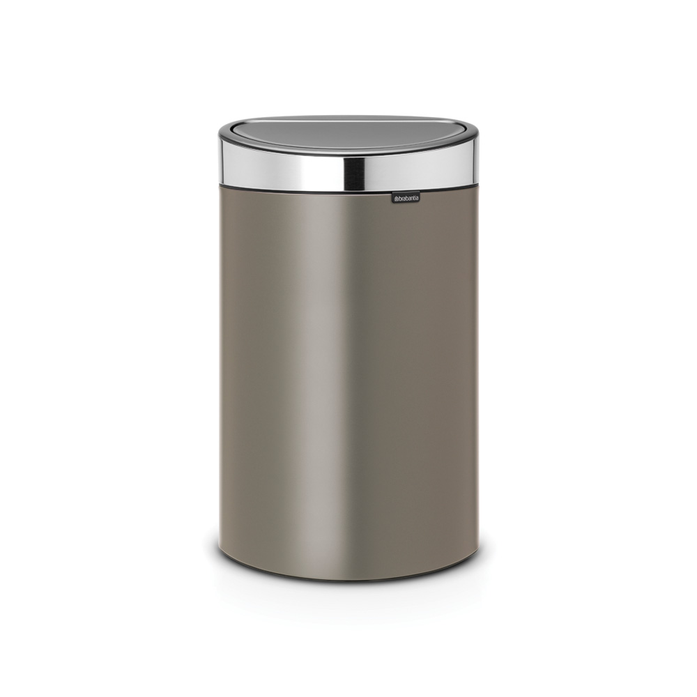 Кош за смет Brabantia Touch Bin New 40L, Platinum, капак металик