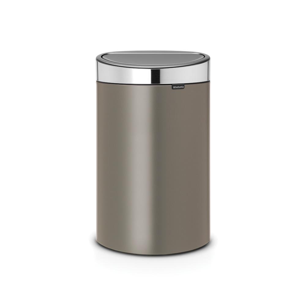 Кош за смет Brabantia Touch Bin New 40L, Platinum, капак металик