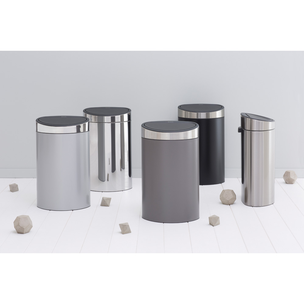Кош за смет Brabantia Touch Bin New 40L, Platinum, капак металик(4)