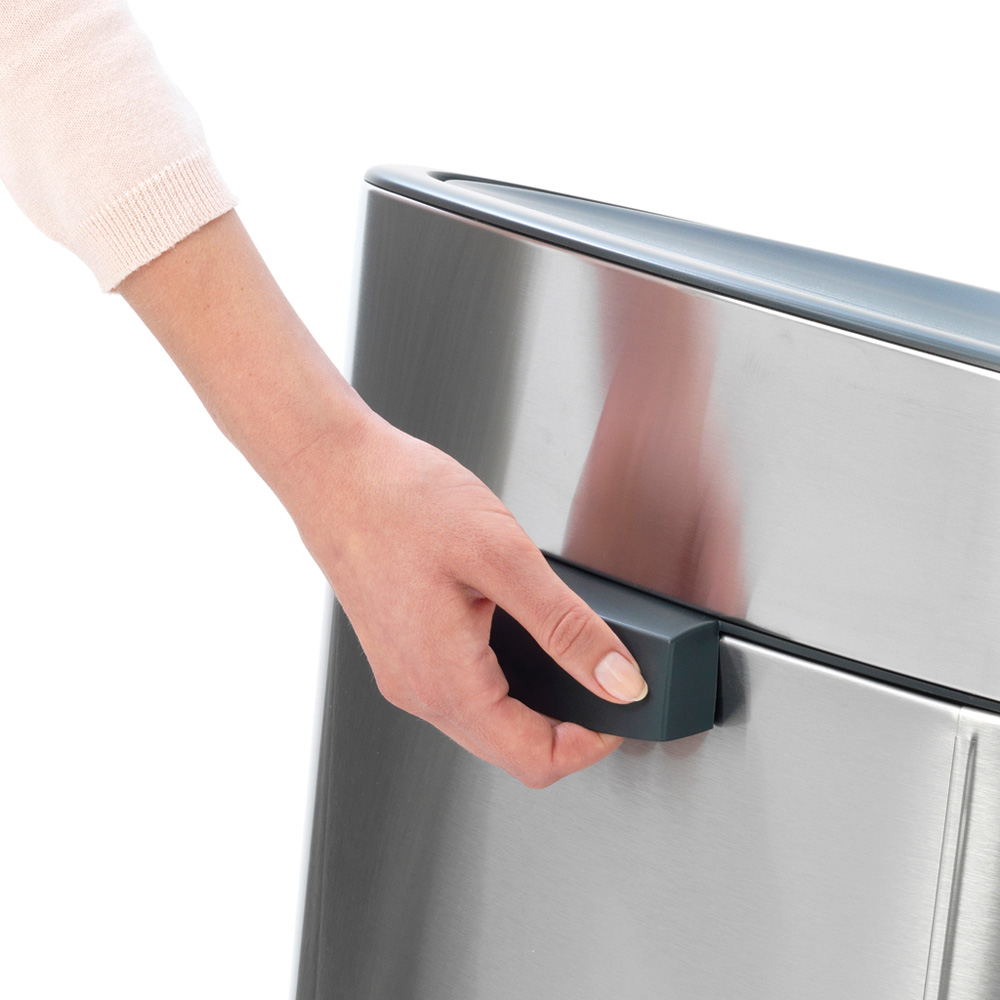 Кош за смет Brabantia Touch Bin New 40L, Platinum, капак металик(5)