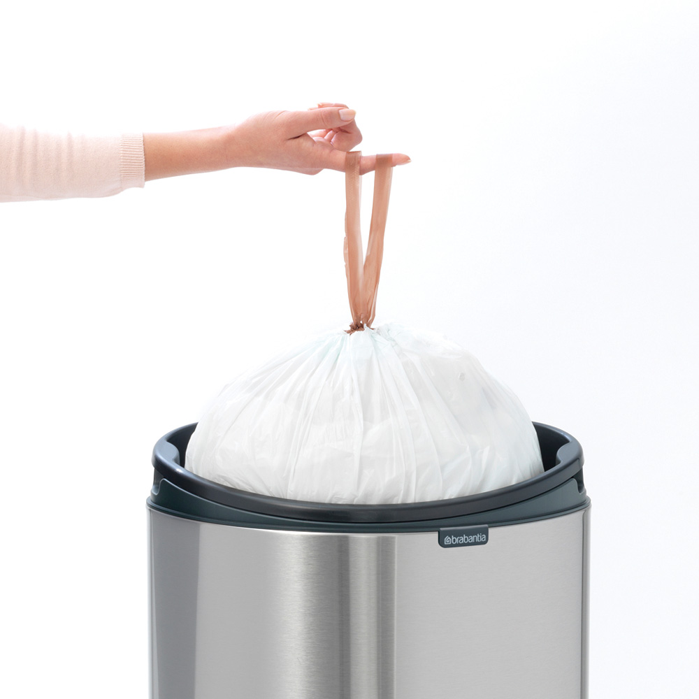 Кош за смет Brabantia Touch Bin New 40L, Platinum, капак металик(7)