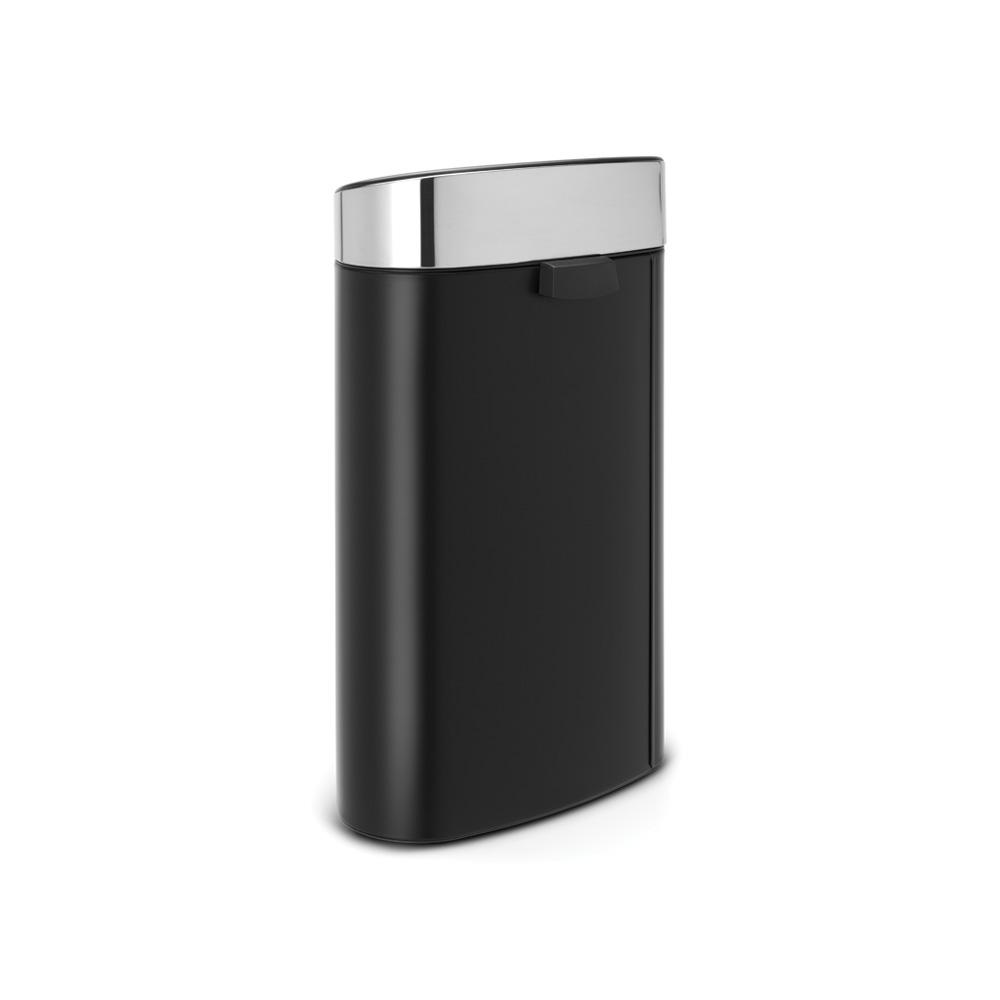 Кош за смет Brabantia Touch Bin New 40L, Matt Black, капак металик(2)