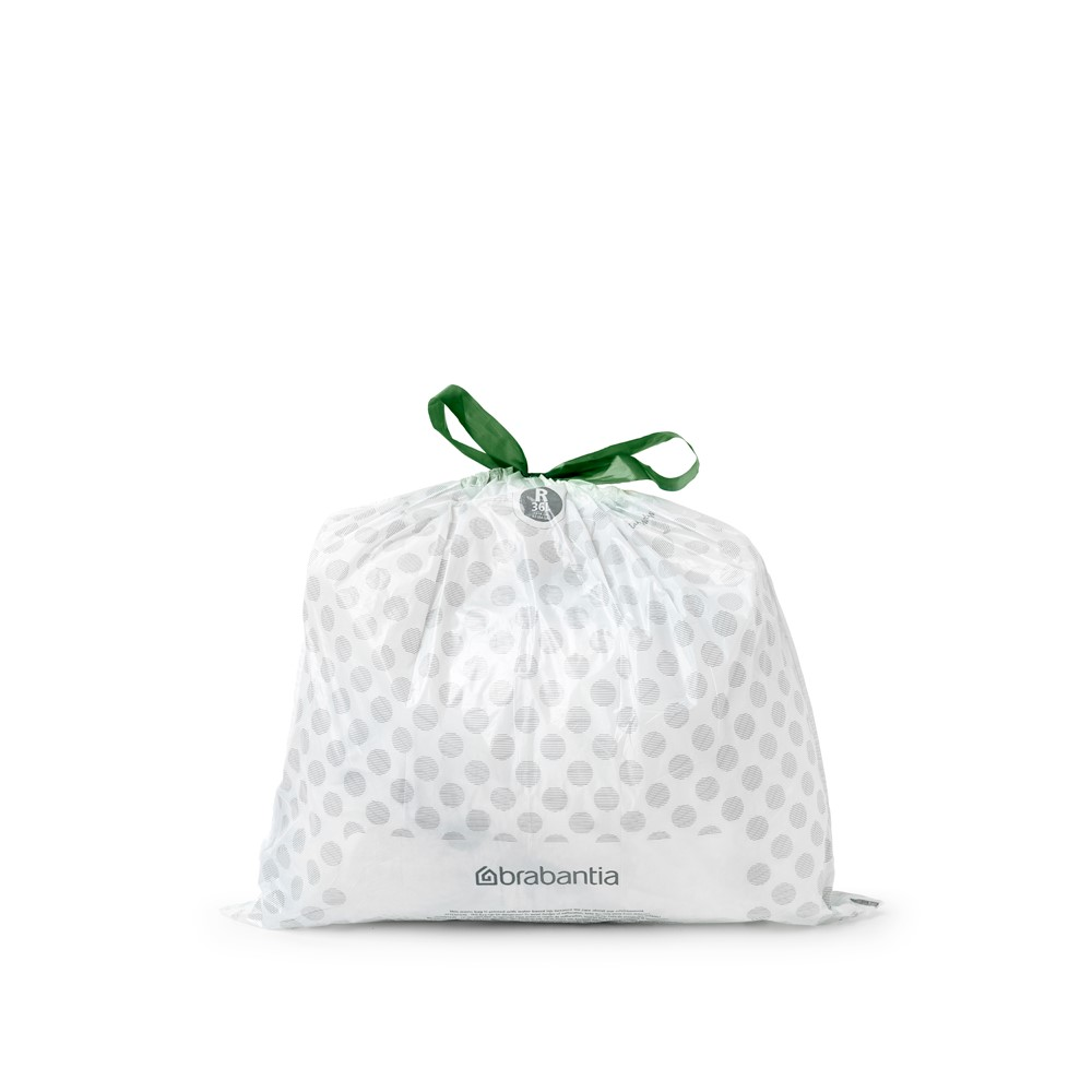 Торба за кош Brabantia Bo Touch/Bo Pedal, размер R, 36L, 10 броя, бели(2)