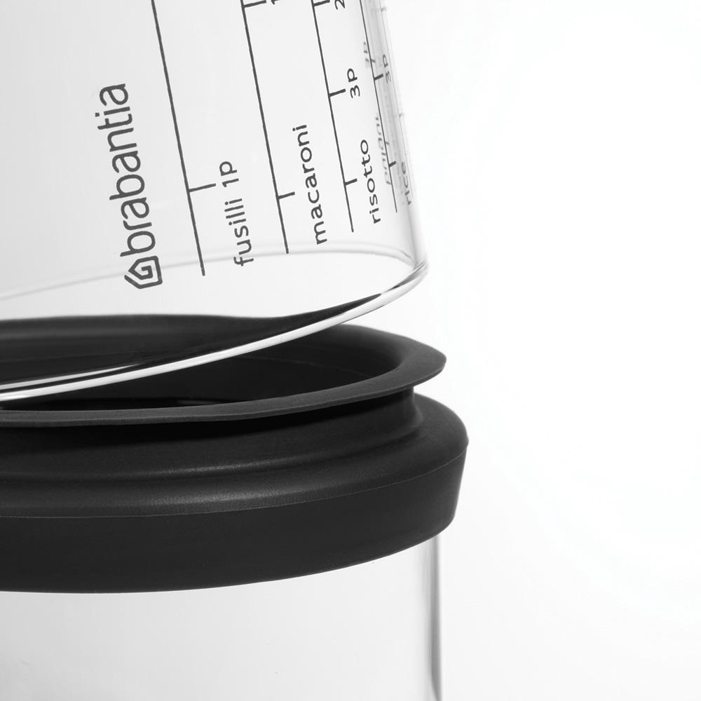 Буркан Brabantia с мерителен капак  1L, Dark Grey(2)