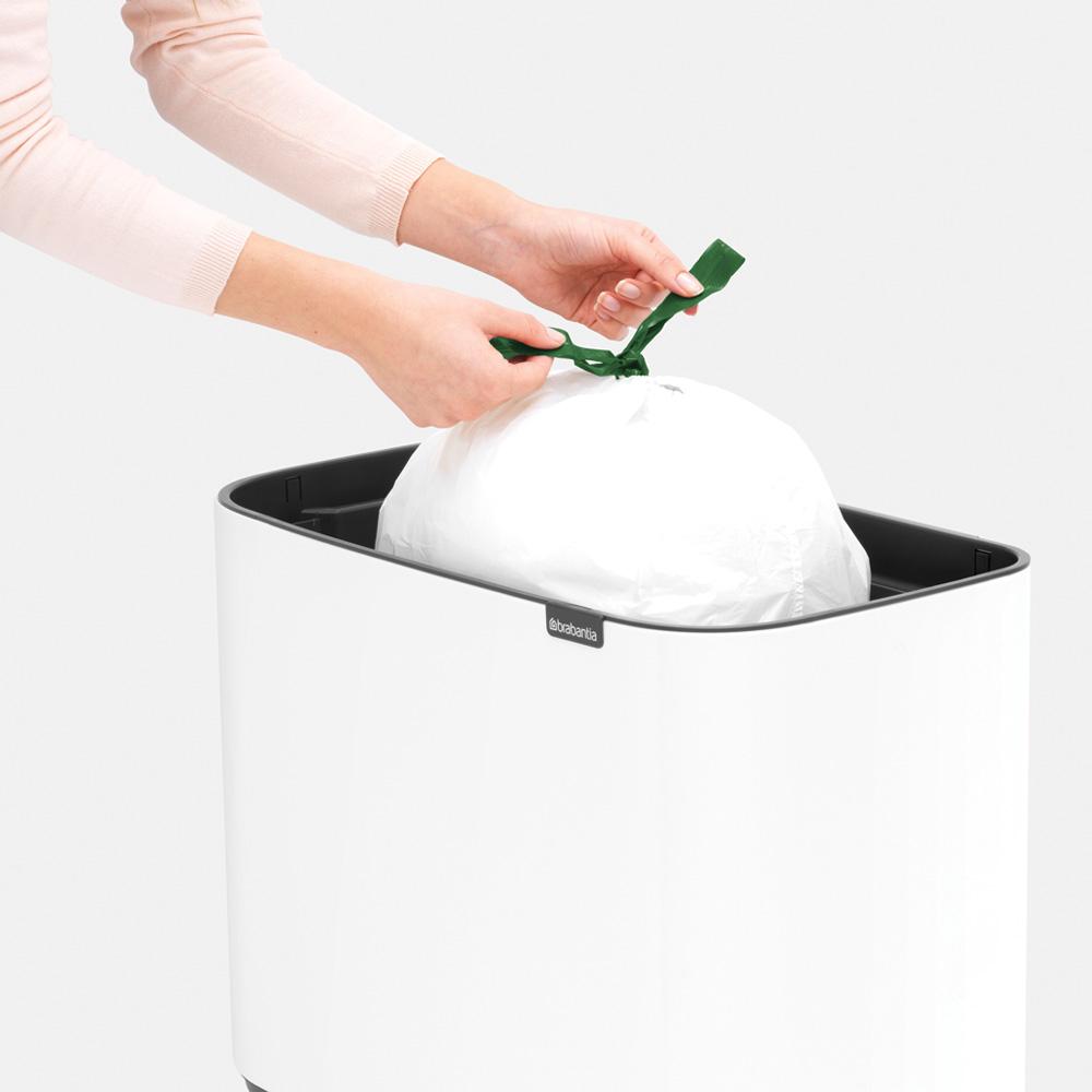 Кош за смет Brabantia Bo Touch 11/23L, White(12)