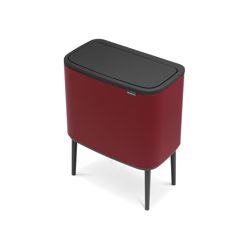 Кош за смет Brabantia Bo Touch 11+23L, Mineral Windsor Red(4)