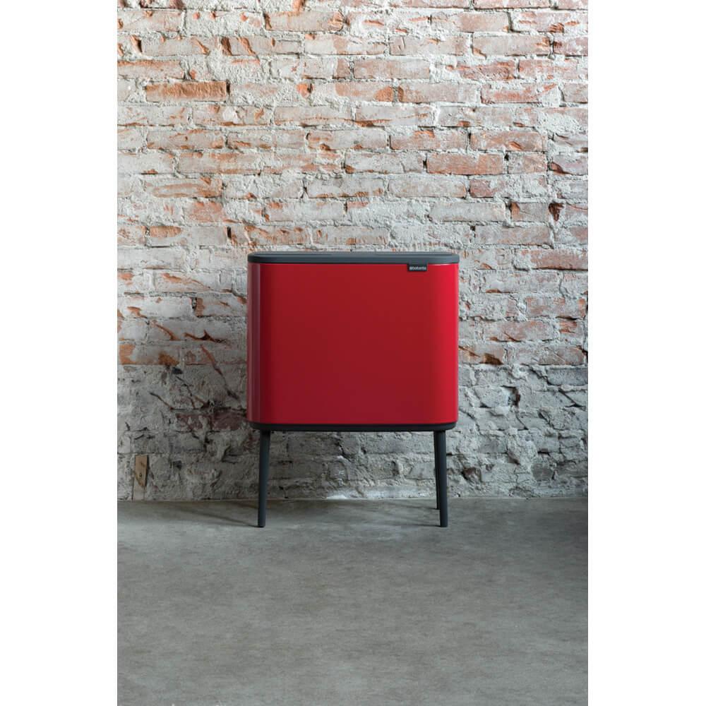 Кош за смет Brabantia Bo Touch 3x11L, Passion Red(10)