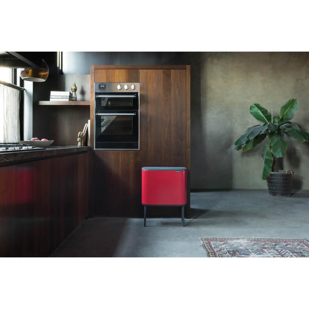 Кош за смет Brabantia Bo Touch 3x11L, Passion Red(11)