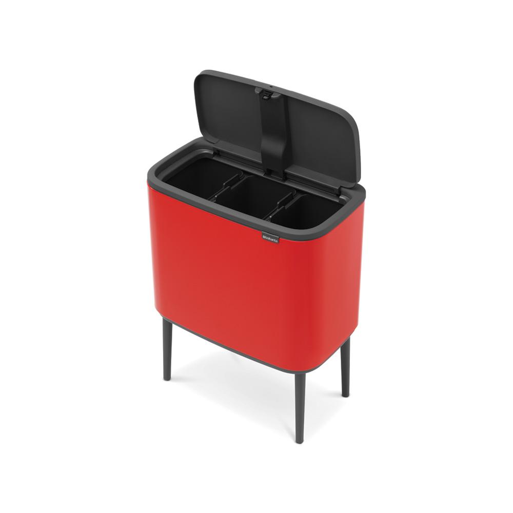 Кош за смет Brabantia Bo Touch 3x11L, Passion Red(5)