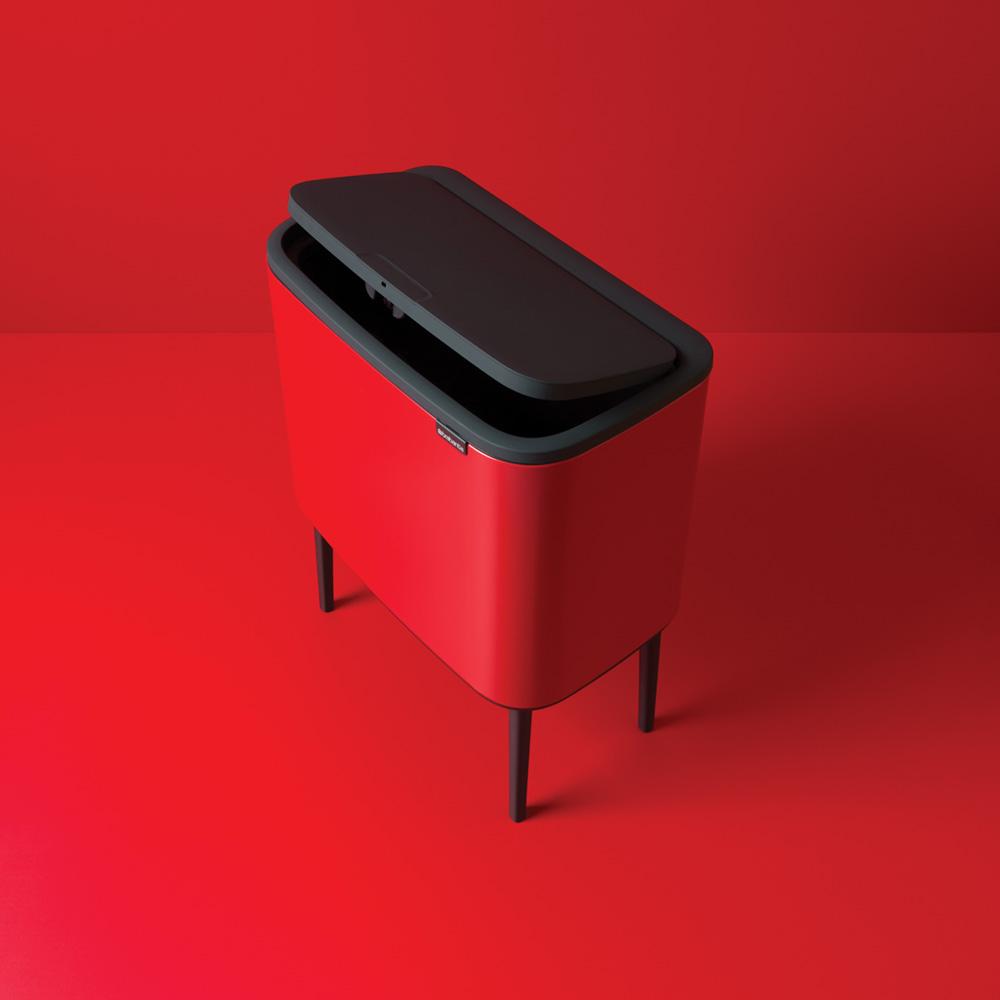 Кош за смет Brabantia Bo Touch 3x11L, Passion Red(6)