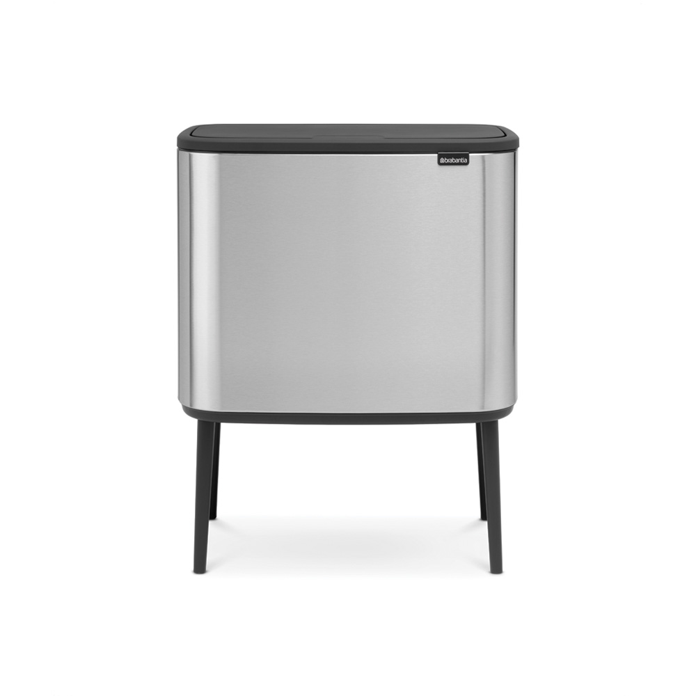 Кош за смет Brabantia Bo Touch 3x11L, Matt Steel Fingerprint Proof