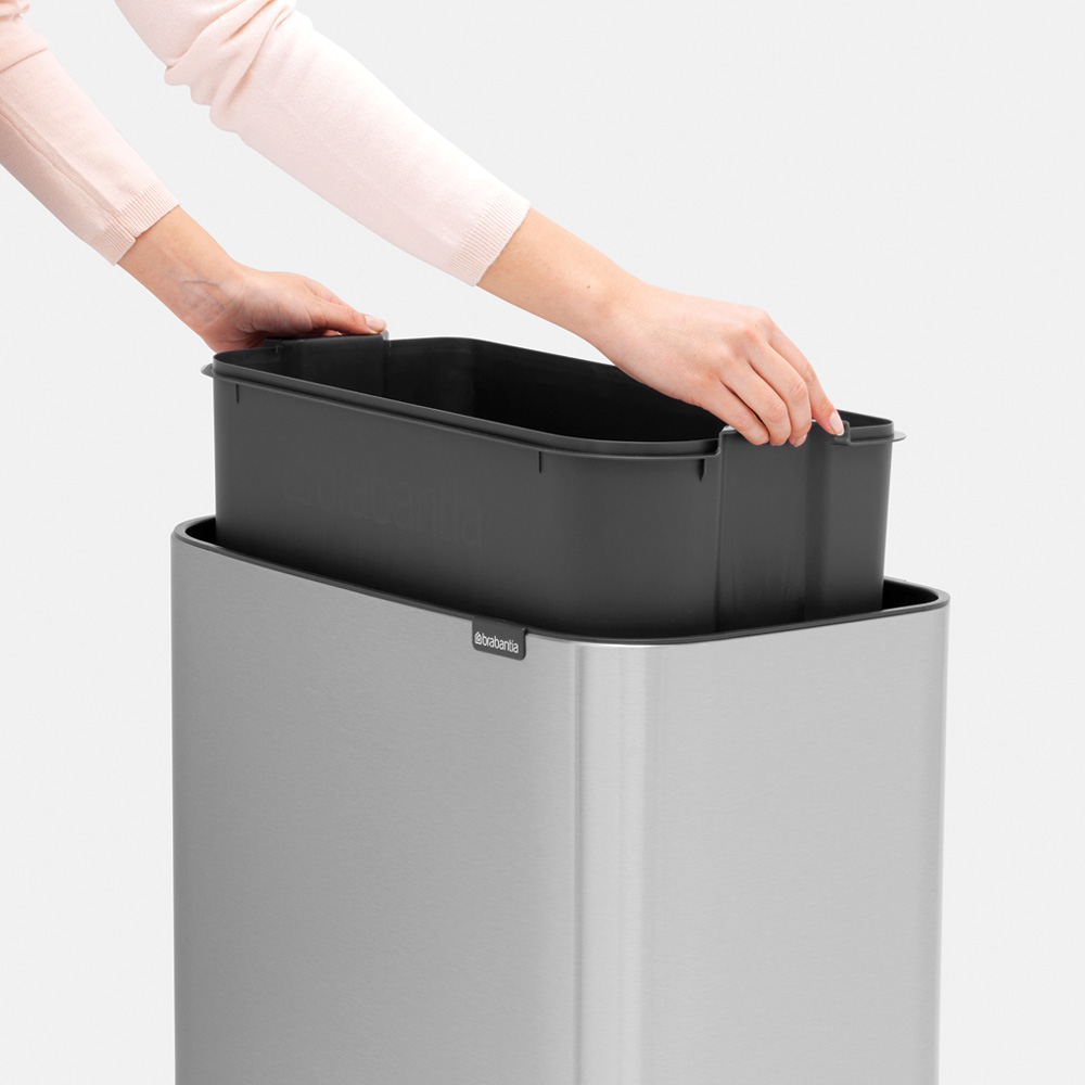Кош за смет Brabantia Bo Touch 3x11L, Matt Steel Fingerprint Proof(12)