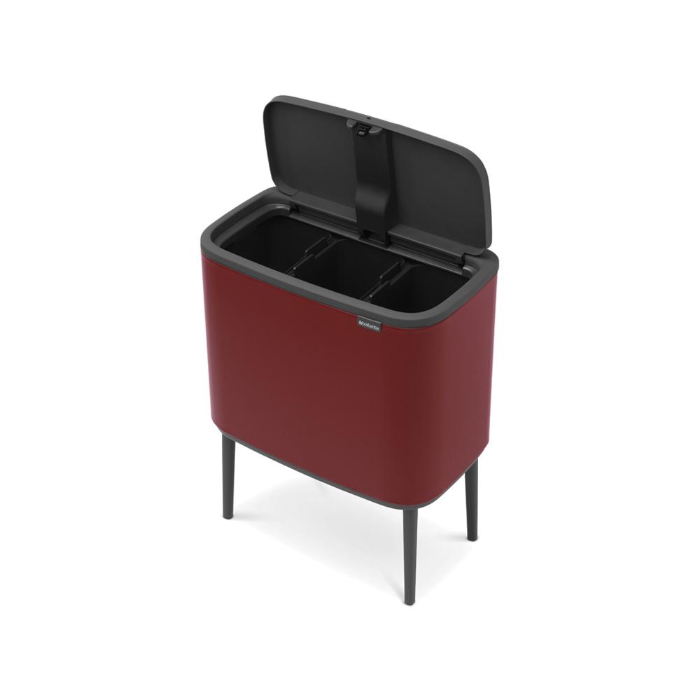 Кош за смет Brabantia Bo Touch 3x11L, Windsor Red(5)