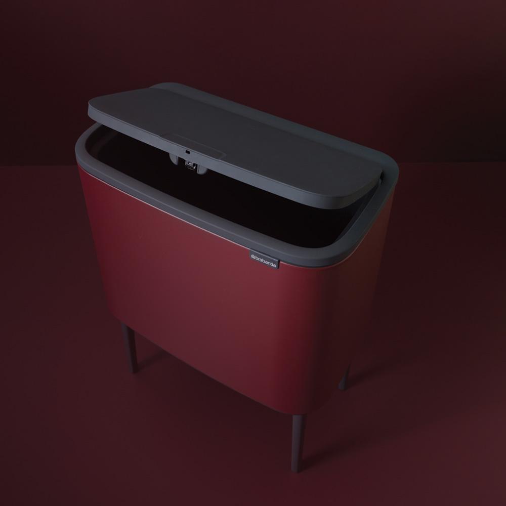 Кош за смет Brabantia Bo Touch 3x11L, Windsor Red(8)