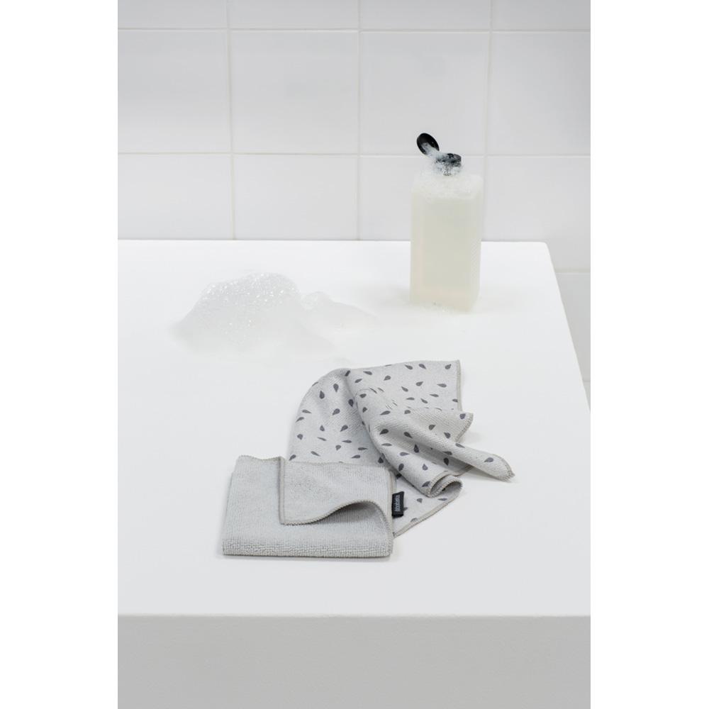 Микрофибърни кърпи Brabantia Light Grey, 2 броя(5)