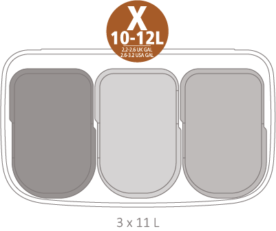 Кош за смет Brabantia Bo Pedal 3x11L, White(17)