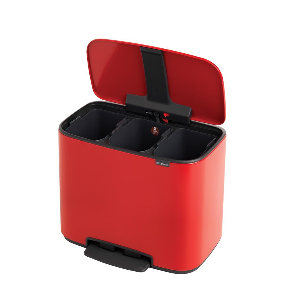 Кош за смет Brabantia Bo Pedal 3x11L, Passion Red(4)
