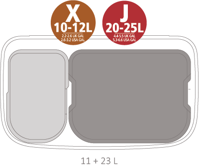 Кош за смет Brabantia Bo Pedal 11+23L, White(16)
