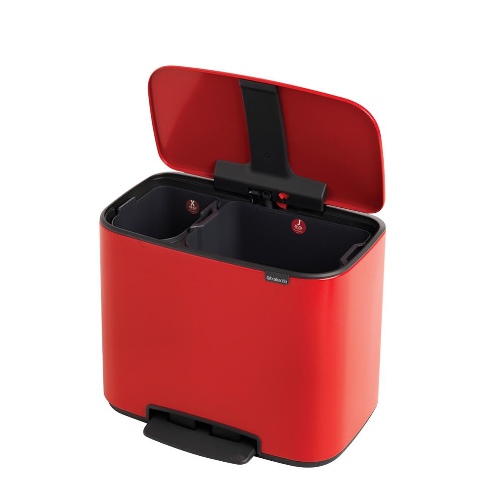 Кош за смет Brabantia Bo Pedal 11+23L, Passion Red(4)
