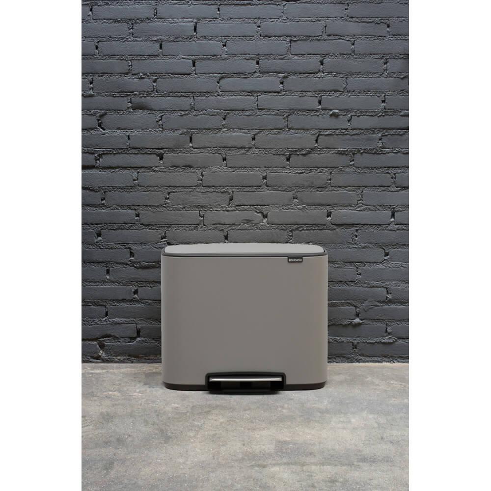 Кош за смет Brabantia Bo Pedal 36L, Mineral Concrete Grey(11)
