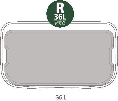 Кош за смет Brabantia Bo Pedal 36L, Mineral Concrete Grey(12)