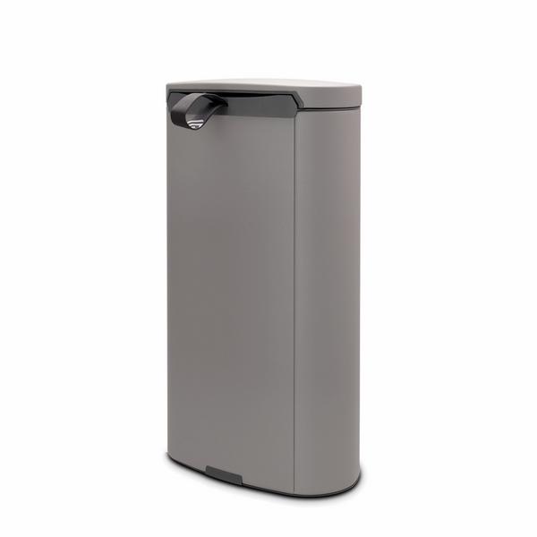 Кош за смет с педал Brabantia FlatBack+ 30L, Mineral Concrete Grey(1)