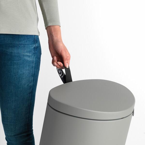 Кош за смет с педал Brabantia FlatBack+ 30L, Mineral Concrete Grey(7)