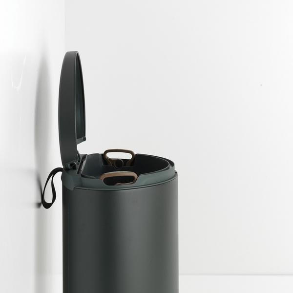 Кош за смет с педал Brabantia FlatBack+ 40L, Mineral Infinite Grey(2)
