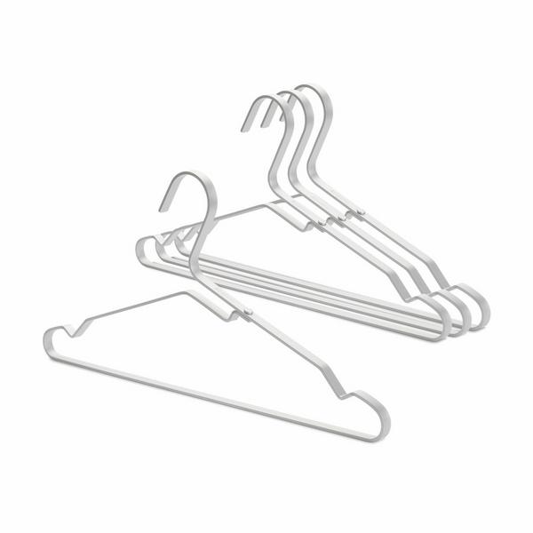 Закачалки за дрехи Brabantia Linn Silver, алуминий, сиви, 4 броя