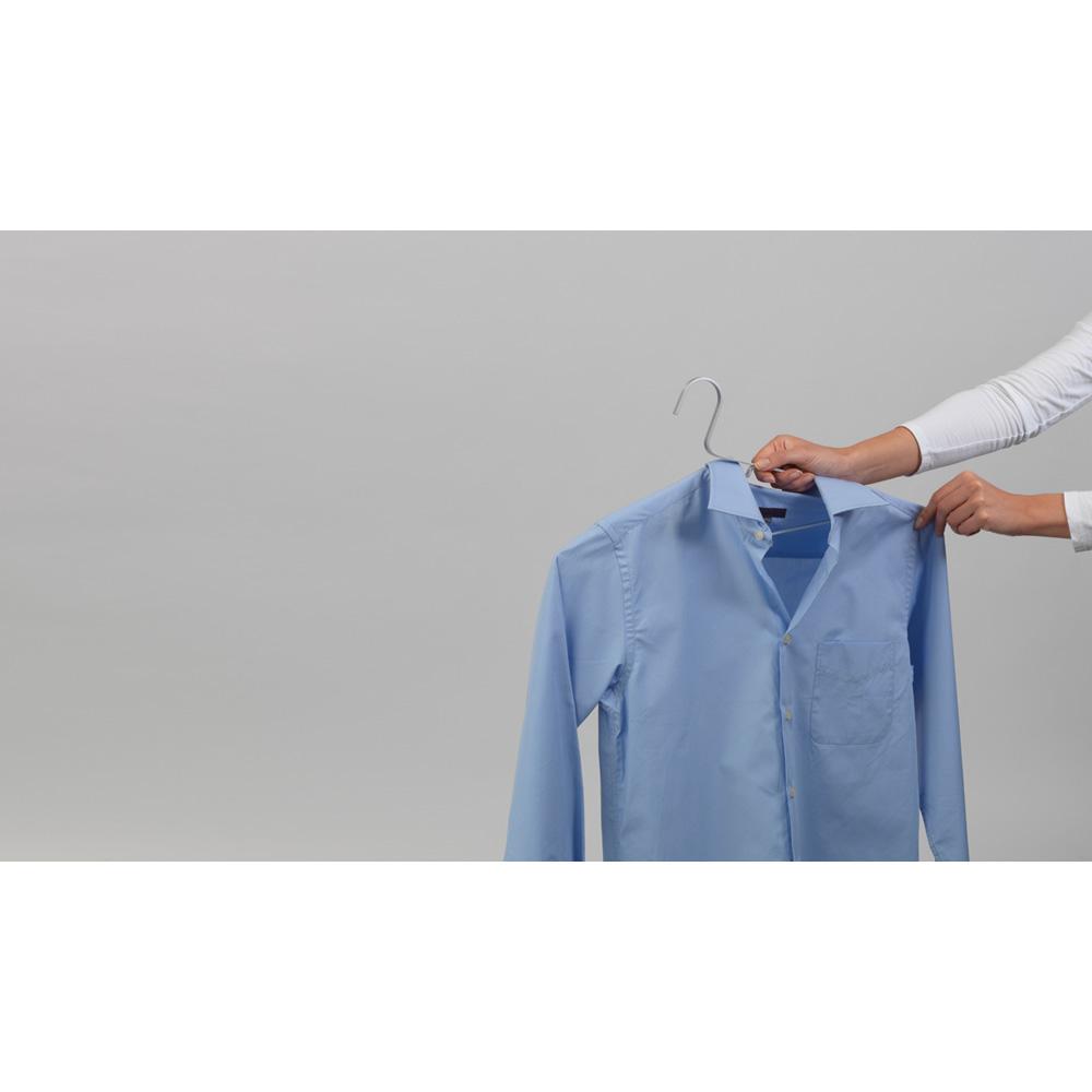 Закачалки за дрехи Brabantia Linn Silver, алуминий, сиви, 4 броя(11)