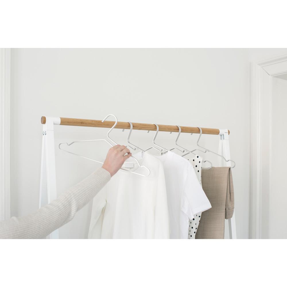 Закачалки за дрехи Brabantia Linn Silver, алуминий, сиви, 4 броя(8)