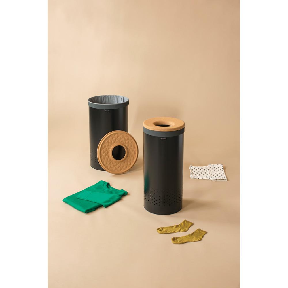 Кош за пране Brabantia 35L, Black, корков капак(7)