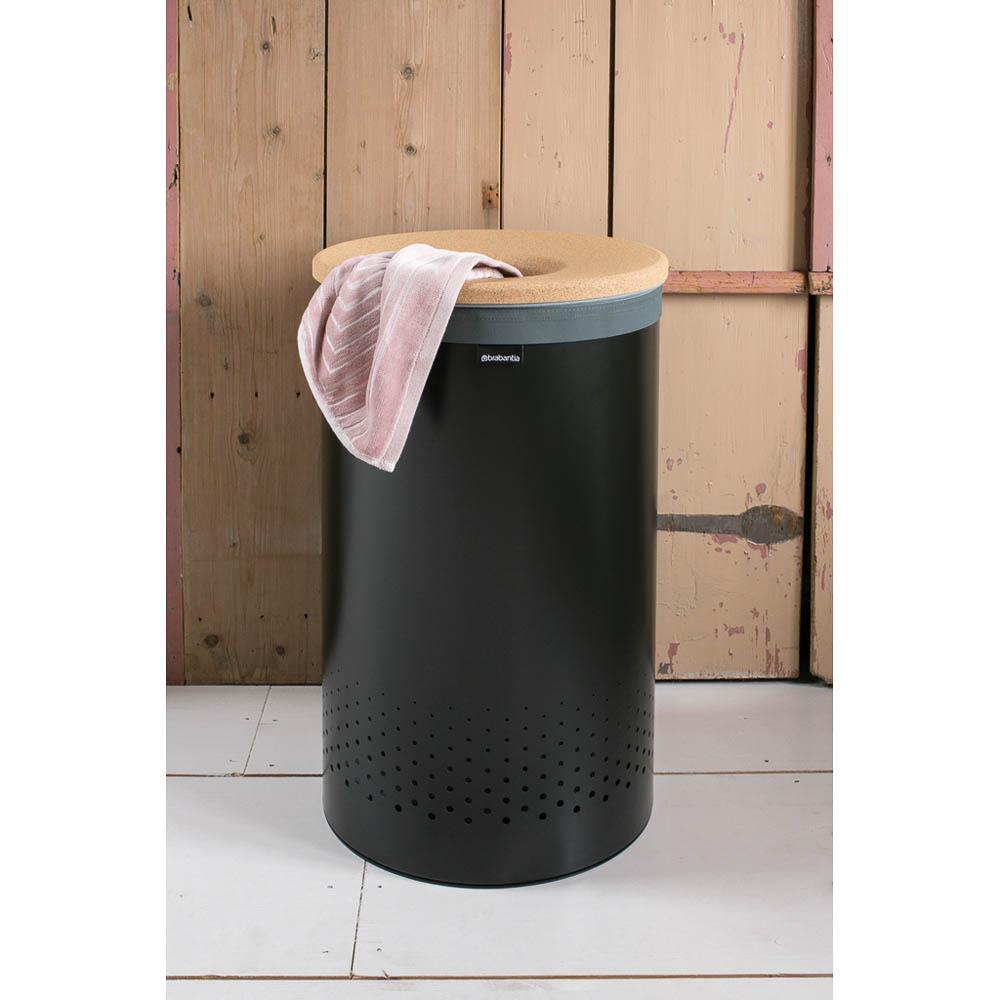 Кош за пране Brabantia 60L, Black, корков капак(1)