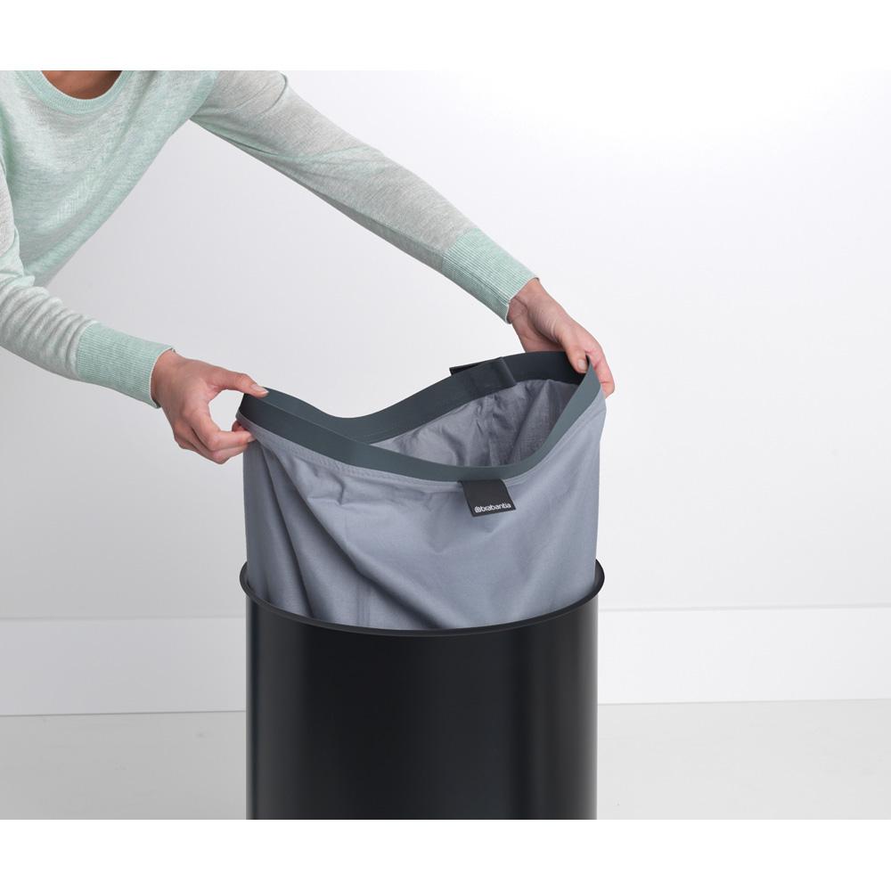 Кош за пране Brabantia 60L, Black, корков капак(10)