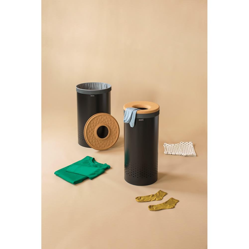 Кош за пране Brabantia 60L, Black, корков капак(3)