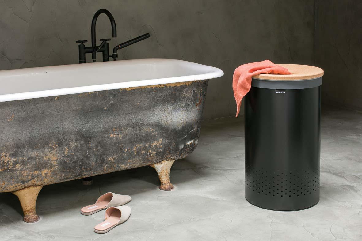Кош за пране Brabantia 60L, Black, корков капак(4)