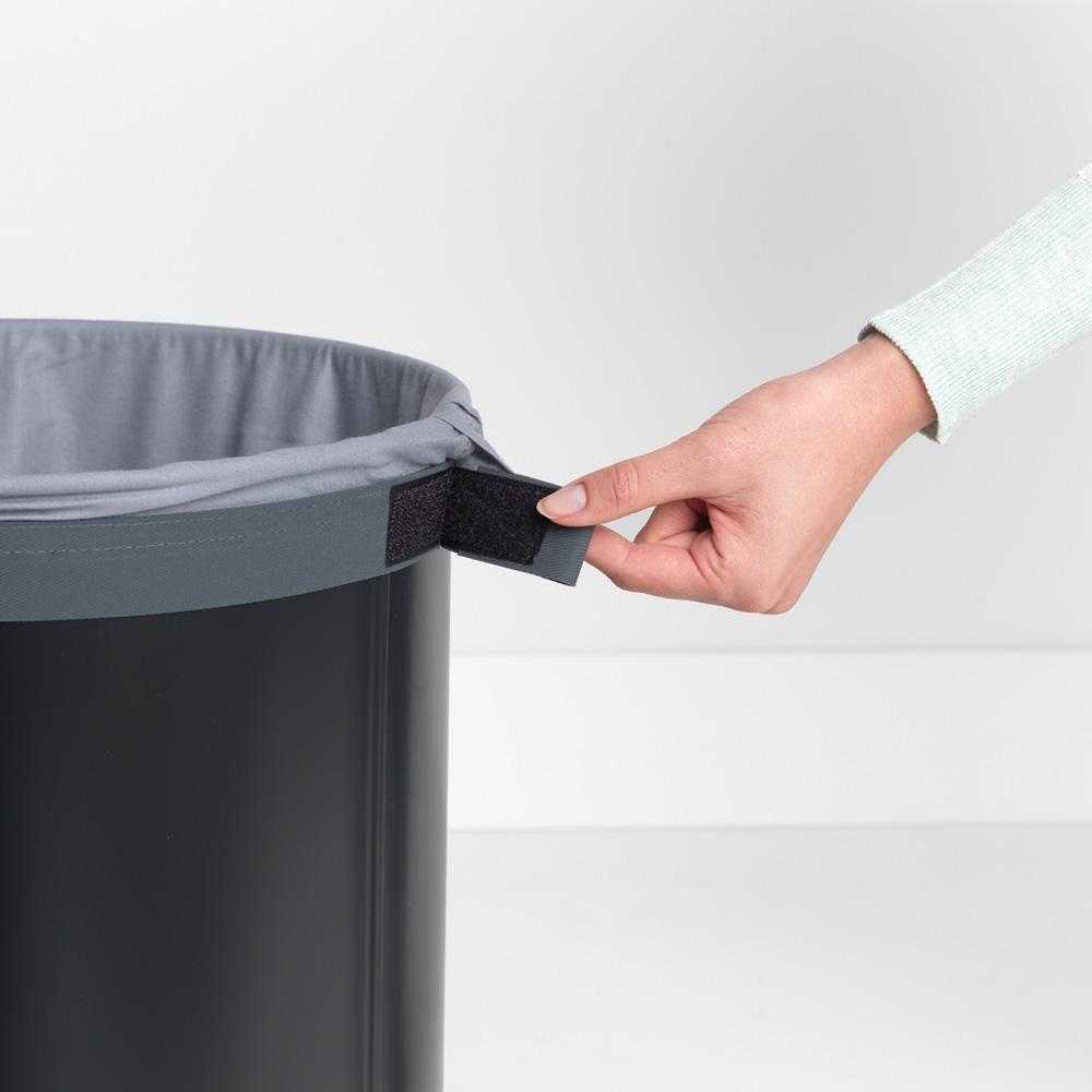 Кош за пране Brabantia 60L, Black, корков капак(9)