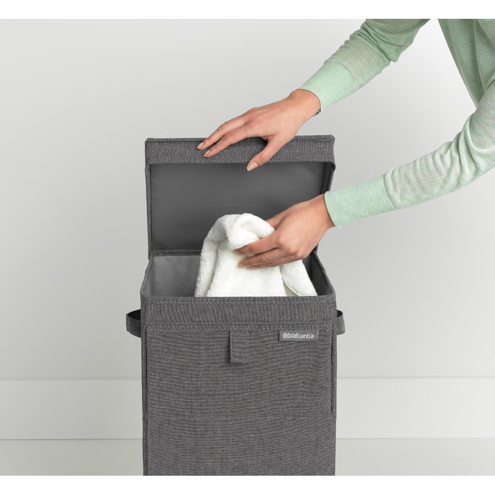 Кутия за пране Brabantia Stackable 35L, Pepper Black(11)