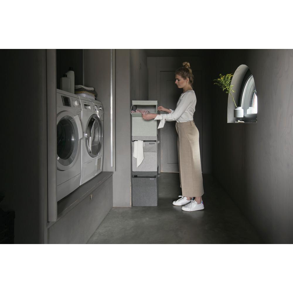 Кутия за пране Brabantia Stackable 35L, Pepper Black(5)