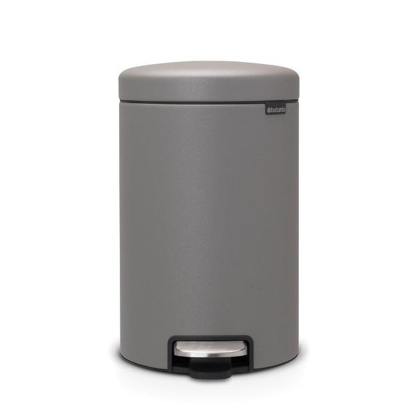 Кош за смет с педал Brabantia NewIcon 12L, Mineral Concrete Grey