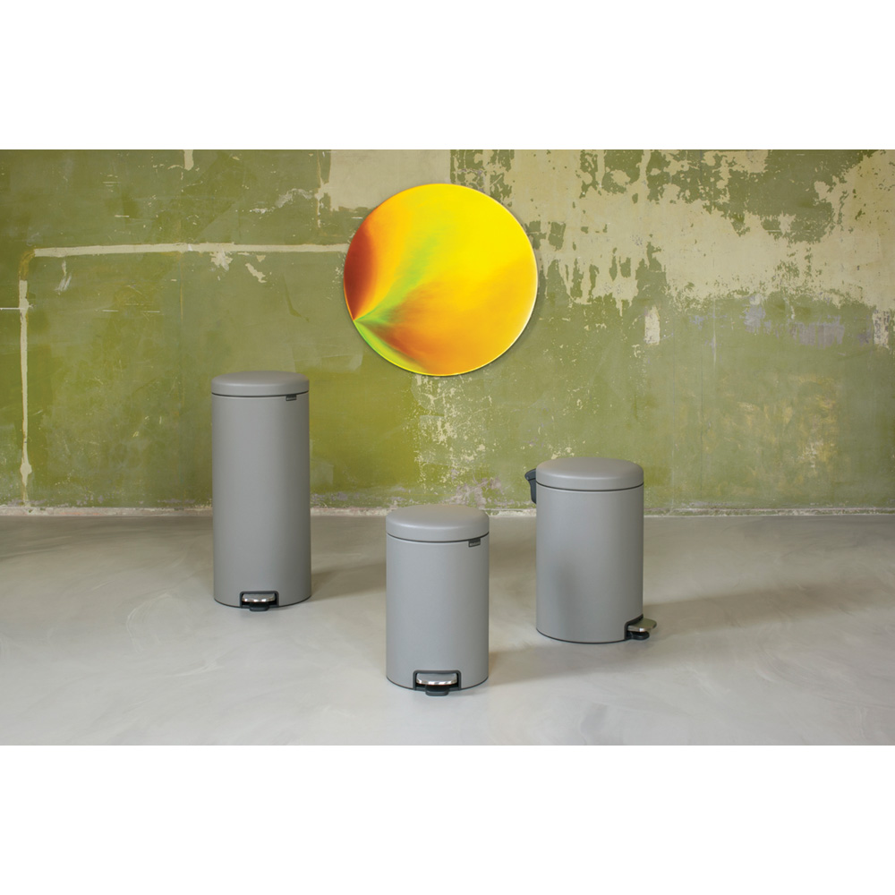 Кош за смет с педал Brabantia NewIcon 12L, Mineral Concrete Grey(4)